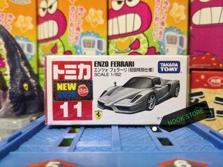 日版 Tomica 11 ENZO FERRARI 初回 新車貼