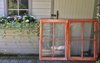 ⭐️2 STUNNING Large Antique Windows with all antique glass/ hardware intact