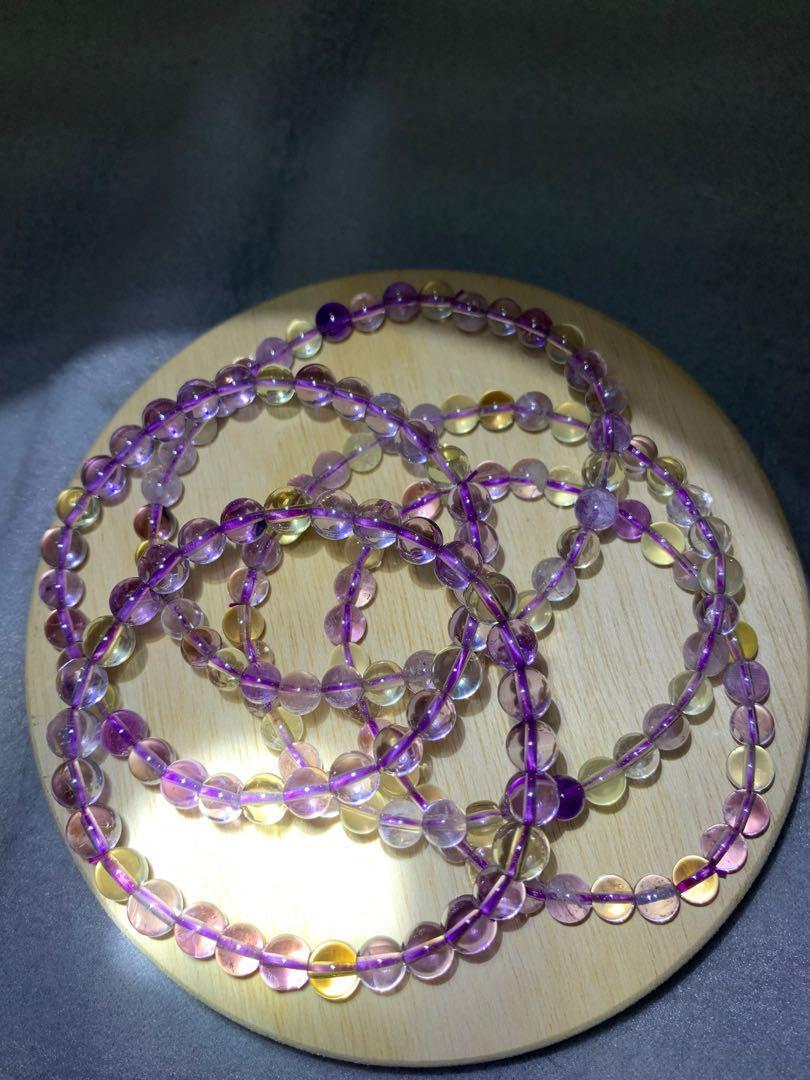 (組合)紫黃水晶手珠🥰
