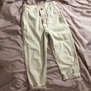 米白色 男友褲