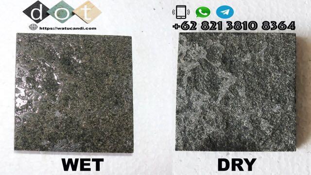 Andesit bakar batu alam matural stone tile homogen solid batuan alami asli material