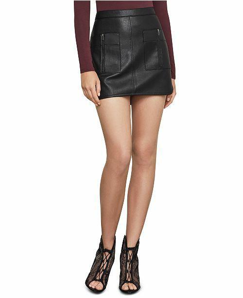 Bcbg faux leather mini skirt