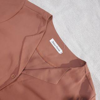 Brown - pink shirt