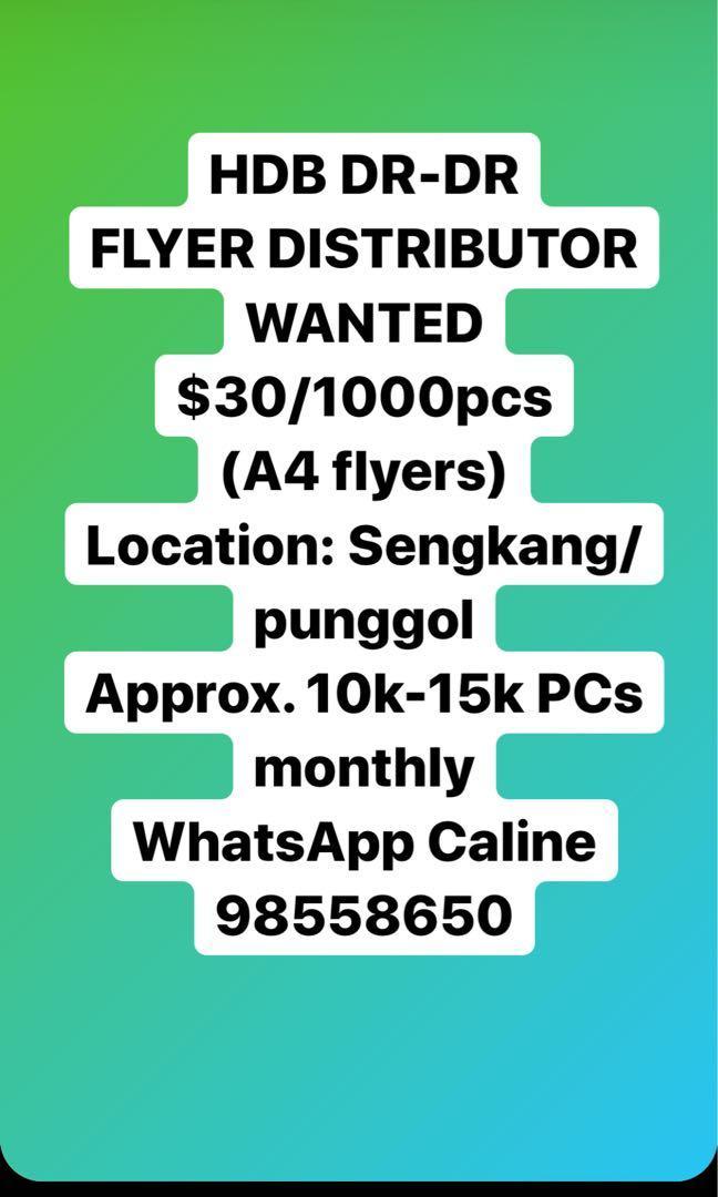 Flyer distributor DR-DR