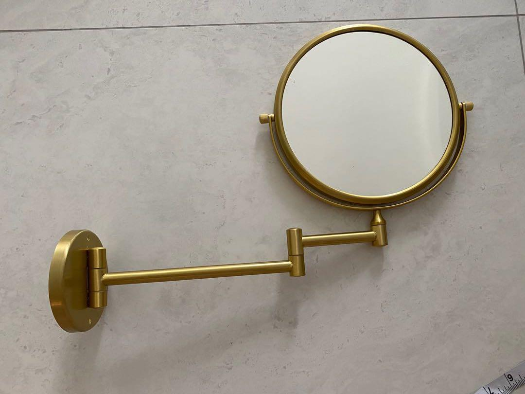 Gold Vanity Mirror Bathroom Accessories Fittings Furniture Home Decor Lighting Supplies On Carousell
