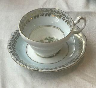 Gorgeous EB Foley collectable bone China tea cup with peacock