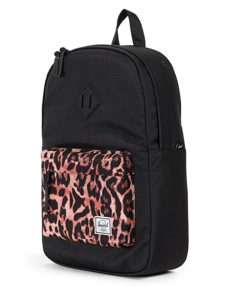 Herschel backpack with cheetah print 15inch