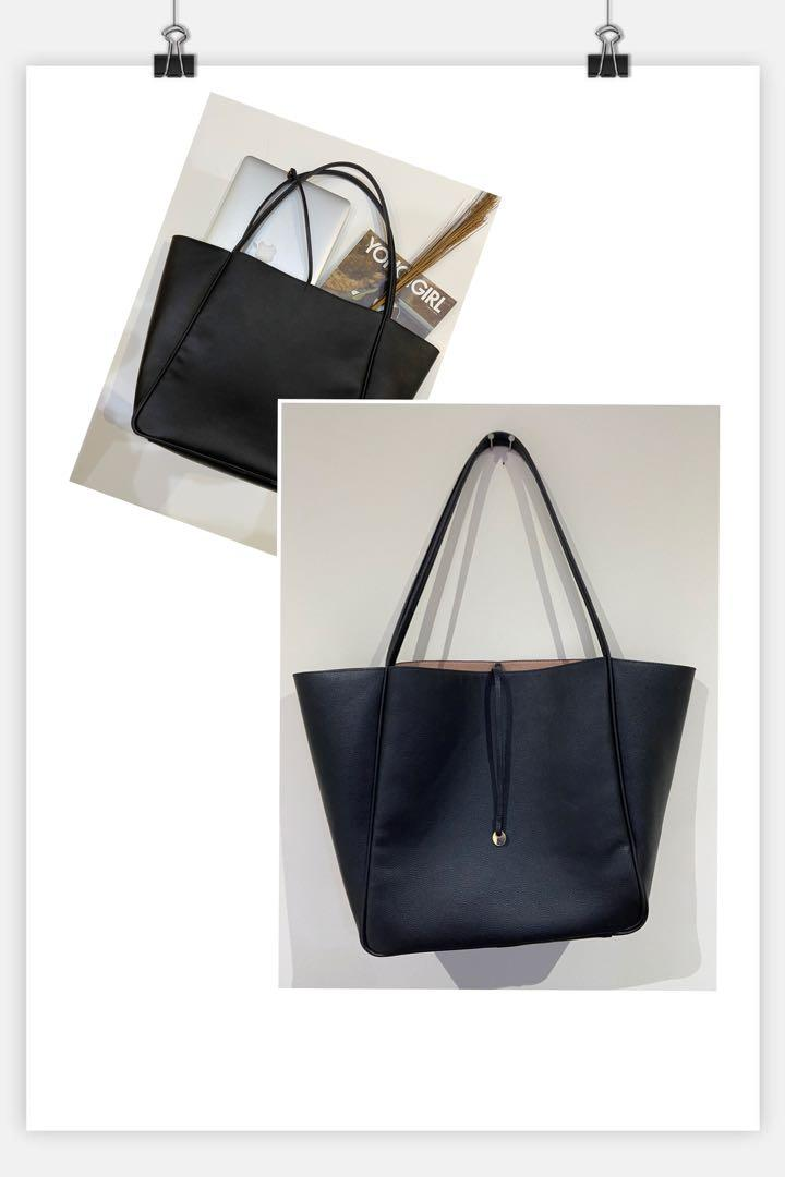 hm black tote bag
