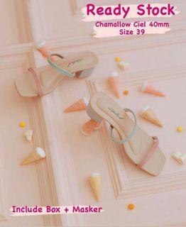 ITTAHERL Chamallow Ciel Heels 40 mm (Collab Kiki Siantar Huillet) Size 39