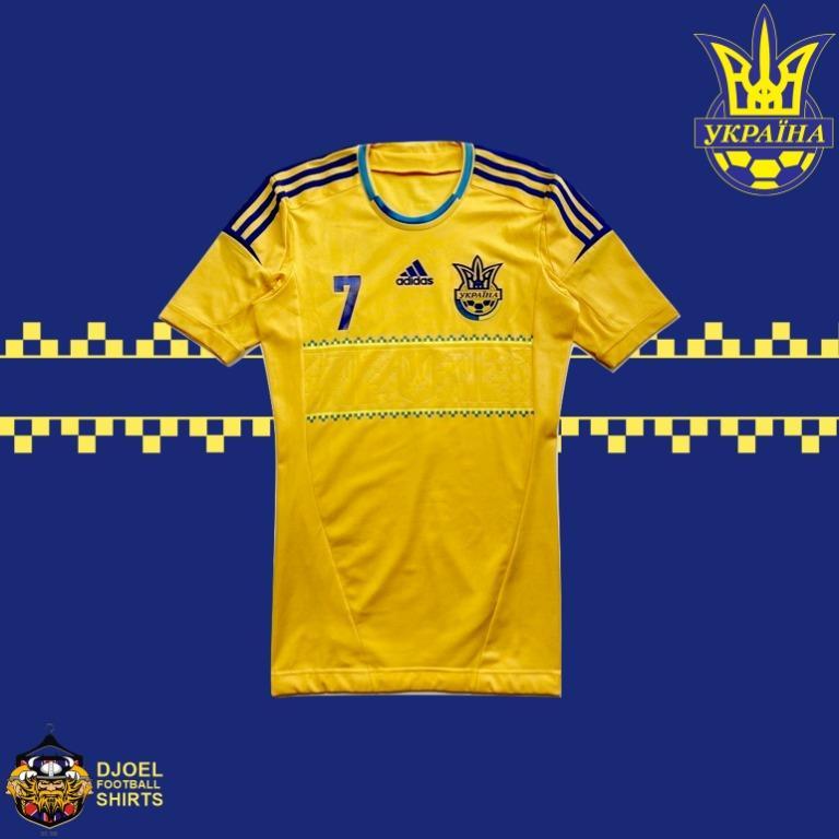 Jersey Original Ukraine Euro 2012 Home #7 SHEVCHENKO TECHFIT Player Issue (M)