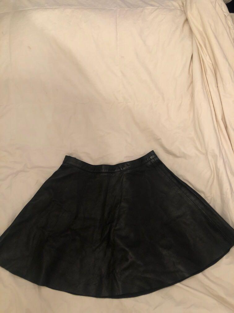 LEATHER American Apparel skirt