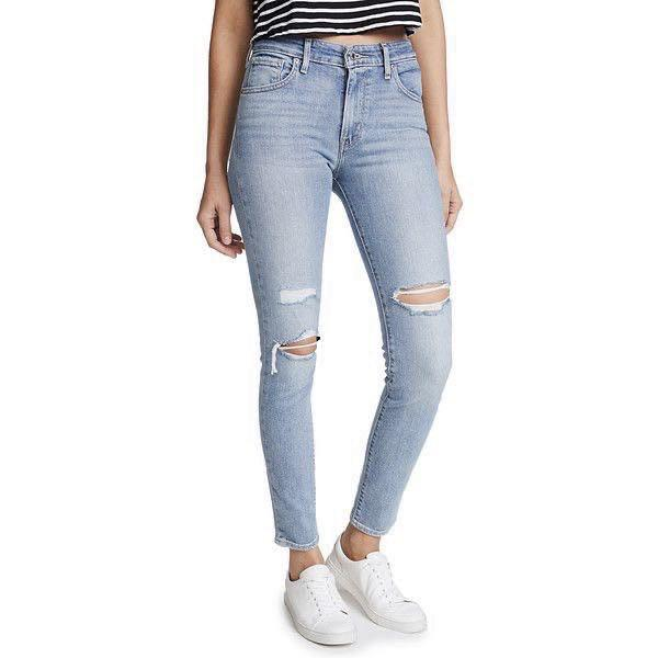 LEVI'S 721 RIPPED JEANS