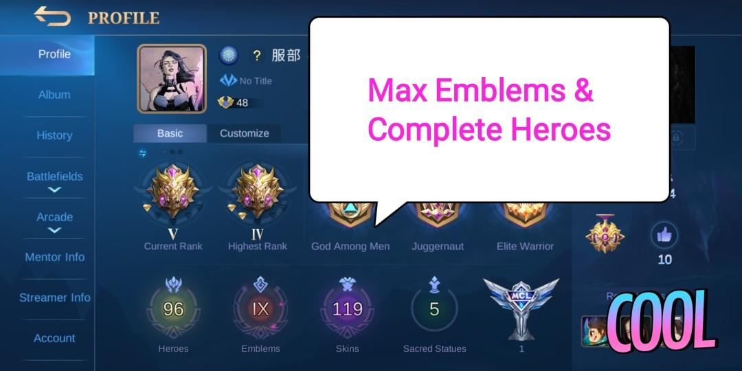 Mobile Legends Account With 1 Magic Crystal And 8 Epic Skins Toys Games Others On Carousell