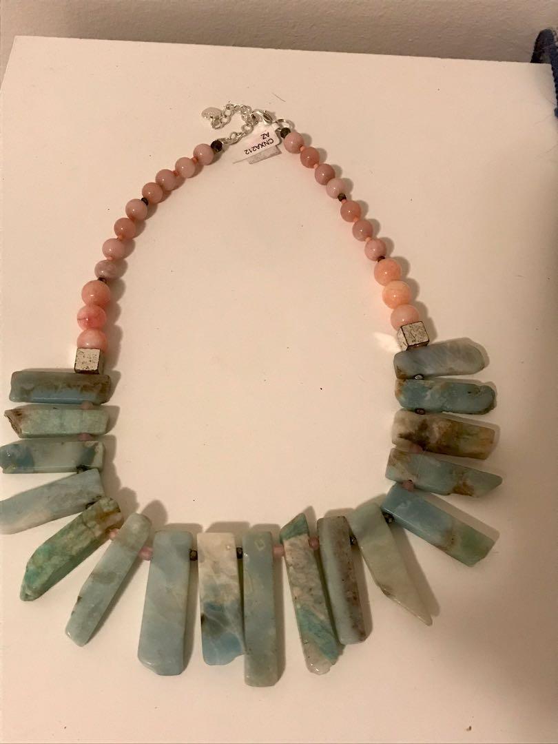Multistone handmade necklace-Nakamol