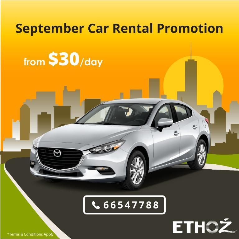 NEW September Car Rental Promotion