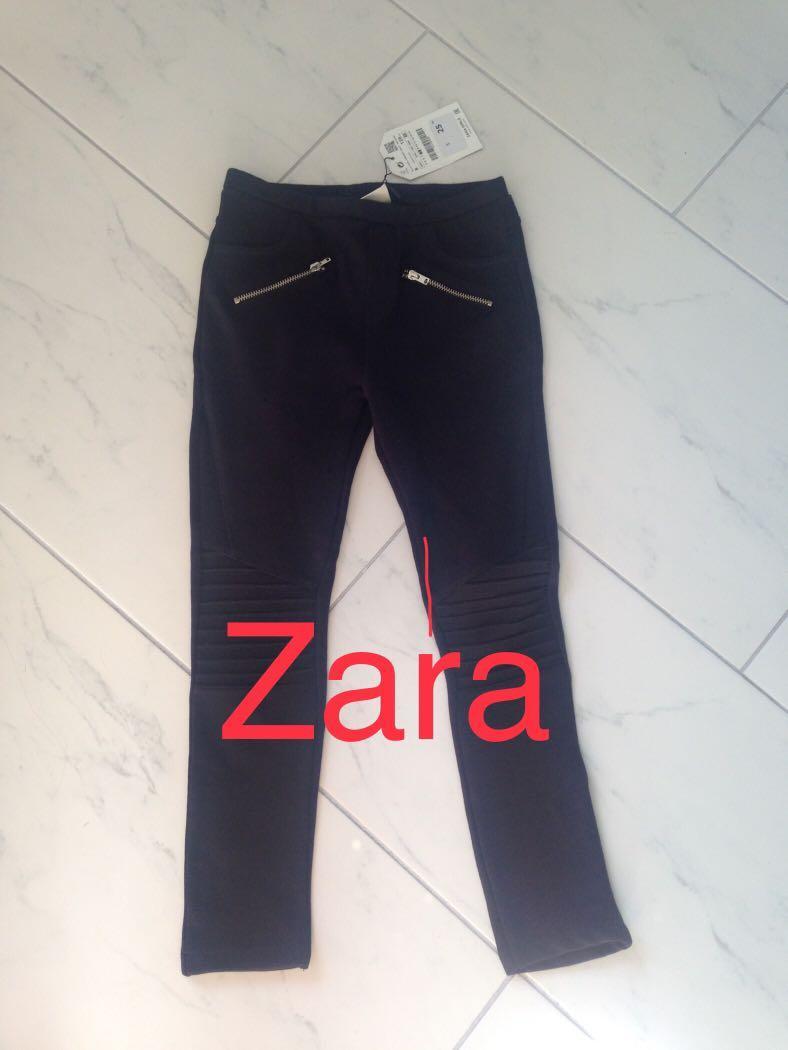 BNWT ZARA girls size 8 black skinny pants