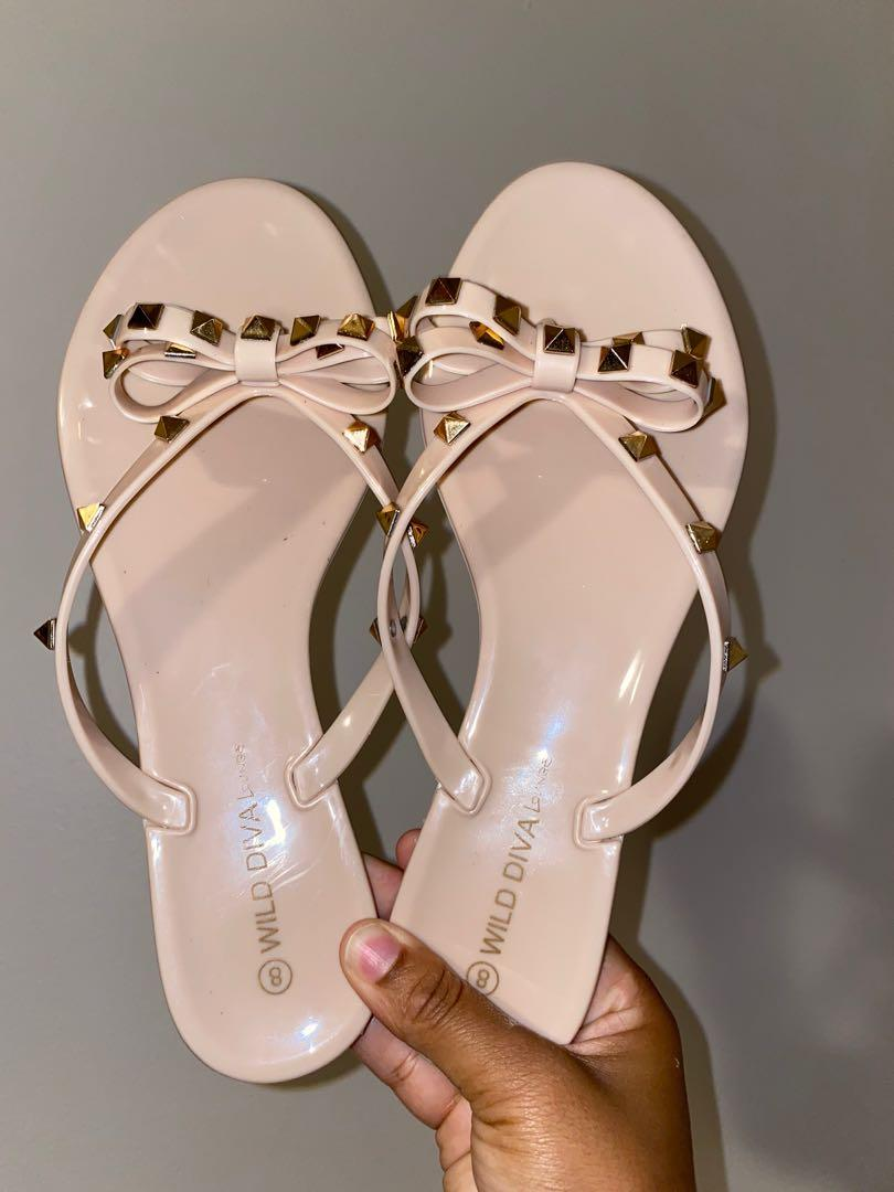 Nude stud Fashion Nova Sandals - Sizs 8 US