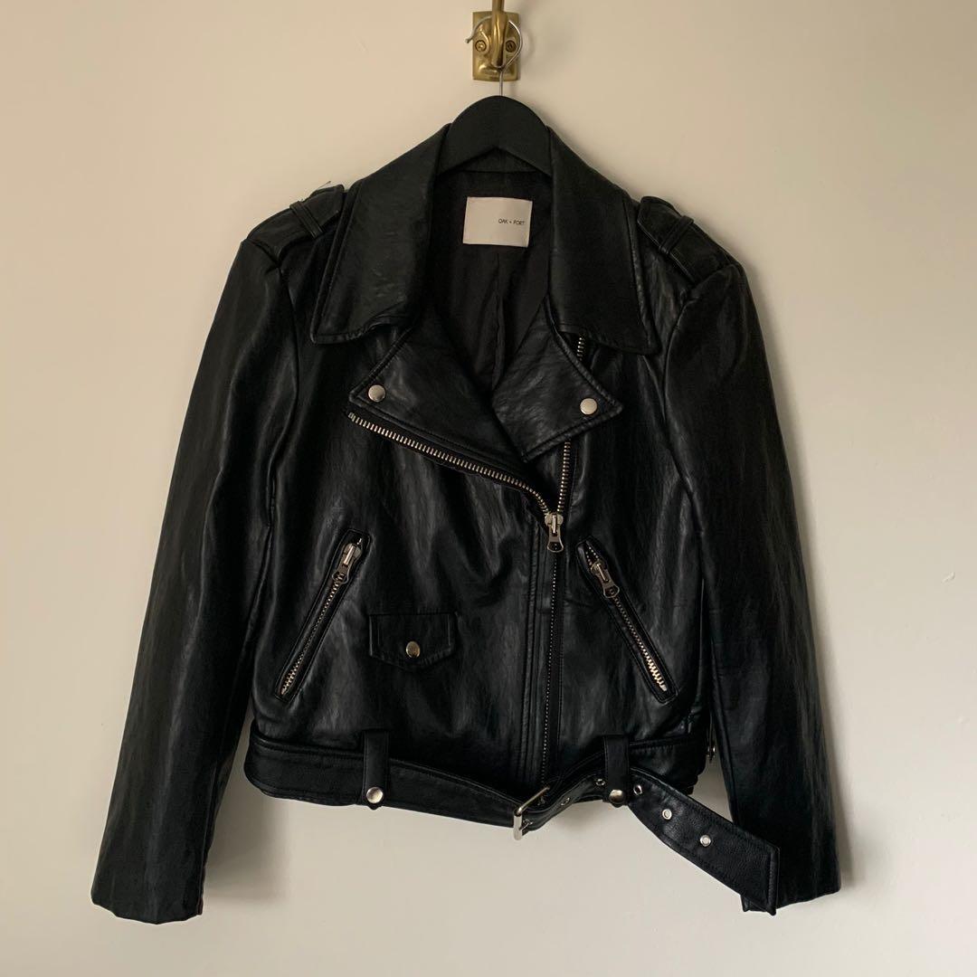 Oak + Fort Biker Jacket