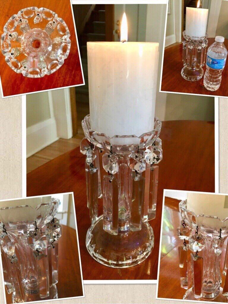 ⭐️One beautiful antique vintage crystal candle holder(1930-1940)⭐️