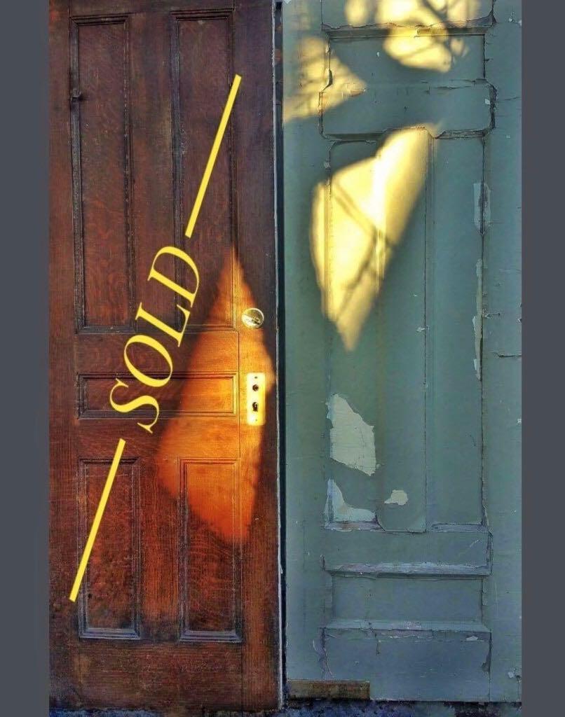 ⭐️ONE SOLID OAK ANTIQUE SWING DOOR