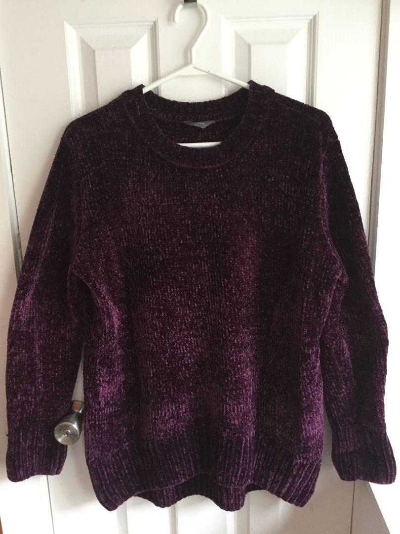 Purple soft cozy sweater size Large -$10