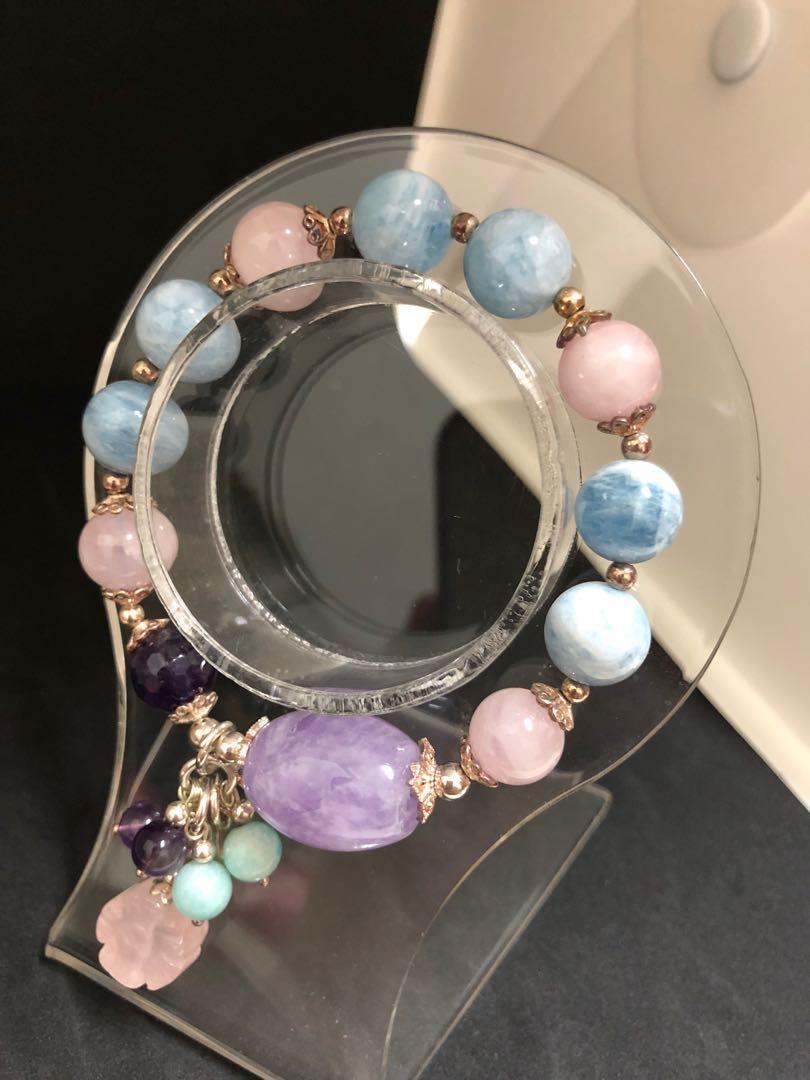海藍寶s925銀造型手環
