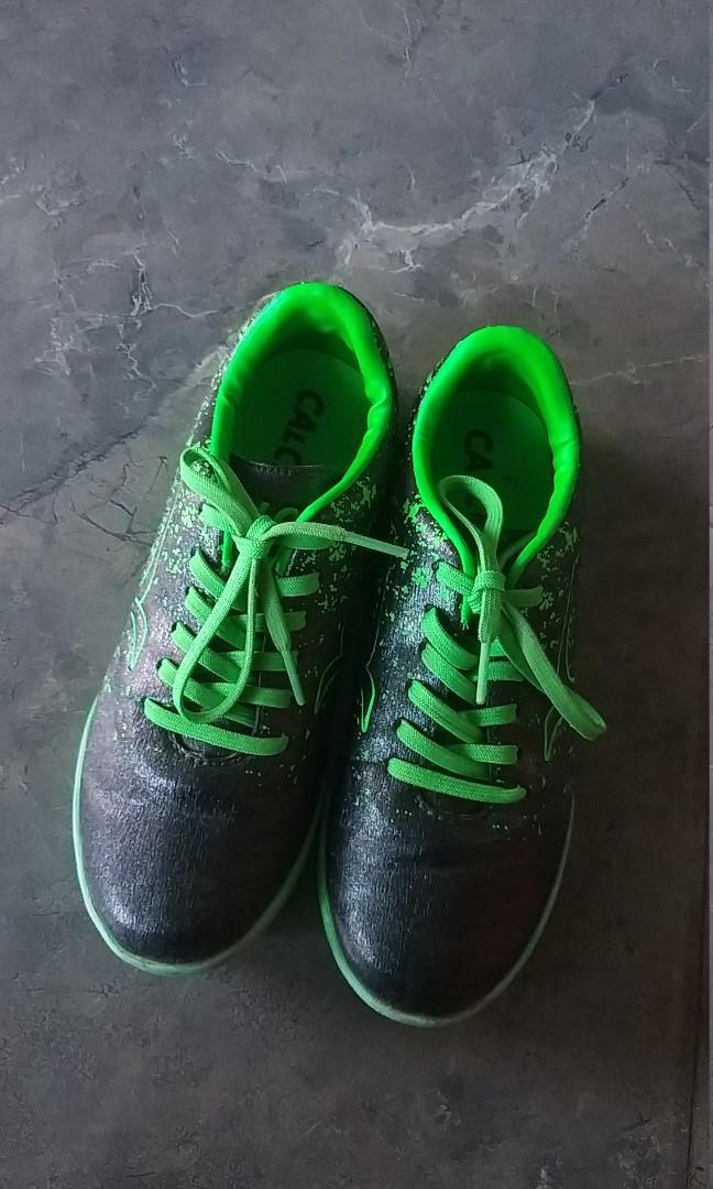 Sepatu futsal anak calci trevisio id forest green original