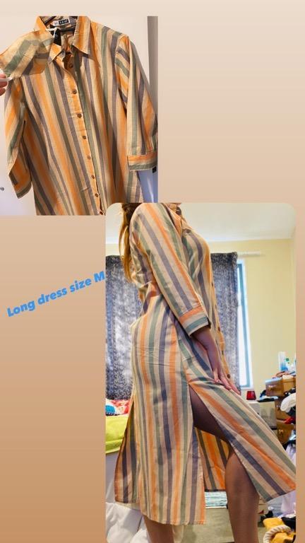Short pant, high waist jeans , casual long dress
