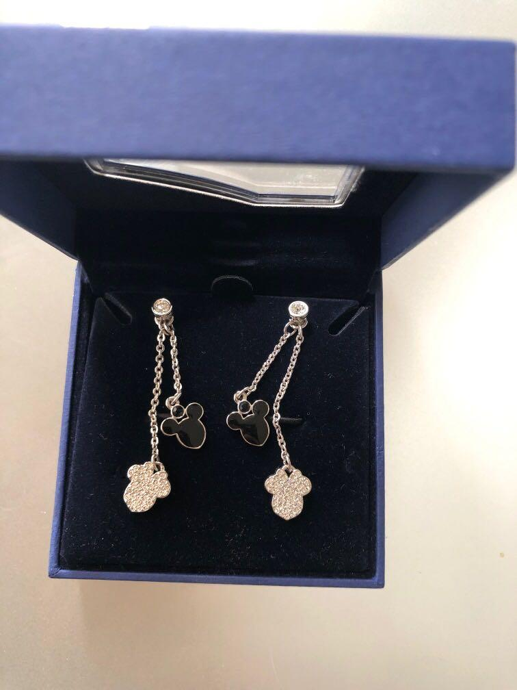 Swarovski Mickey Mouse Minnie Mouse dangle drop earrings limited edition