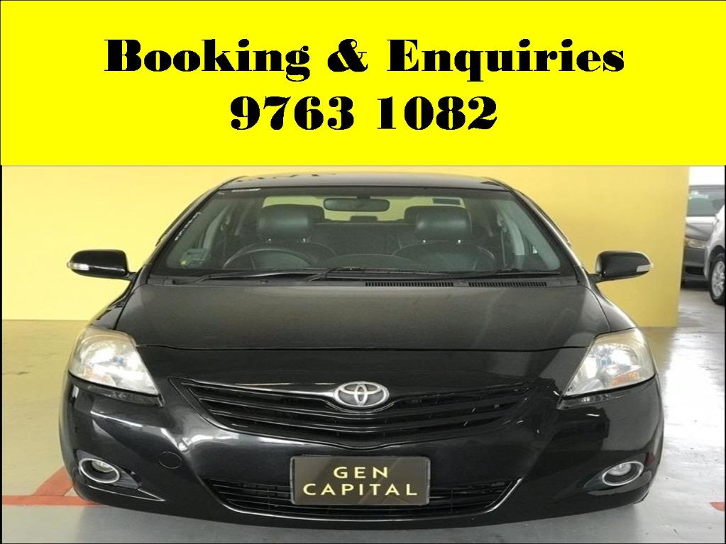 Toyota Vios ! tuesday car rental promotion ! cheap car ! budget car for rent ! Deposit @ $500 only ! Whatsapp 9763 1082 to reserve now !