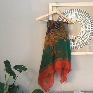 Vintage print scarf