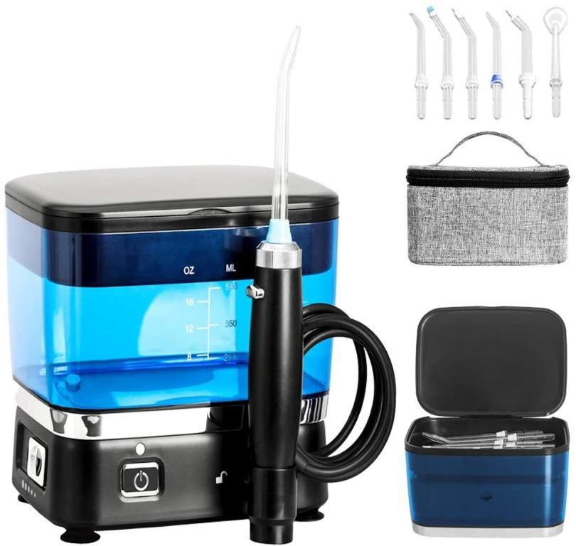 Water Flosser 500ml Dental Oral Irrigator with Collapsible Design for Travel, USB Rechargeable