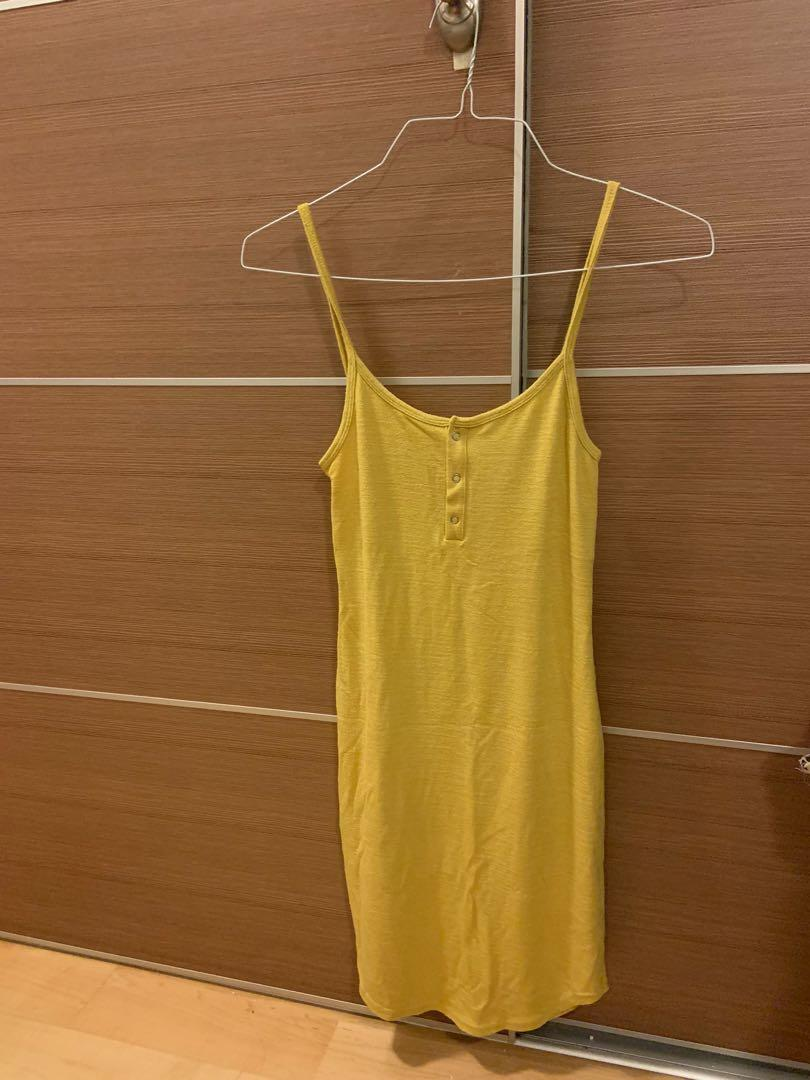 Yellow dress aritzia