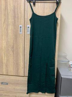 綠色連身裙
