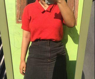 Aptus Red Crop Top