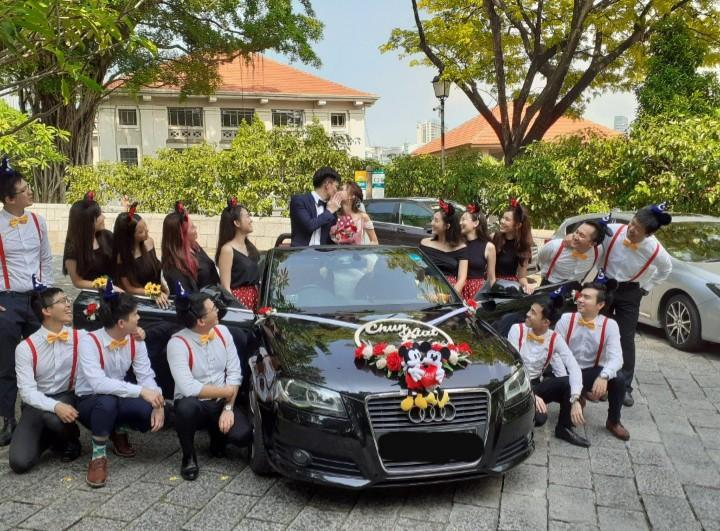 AUDI CABRIOLET CAR FOR.WEDDING AND ALL OTHER EVENTS/AIRPORT PICK UP ETC