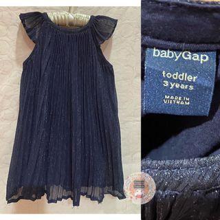 Baby Gap Pleated Dress  Dark Blue Glimmer_3-4T