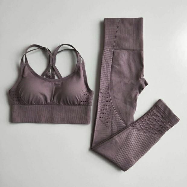 Baju Gym Wanita Brown Size M
