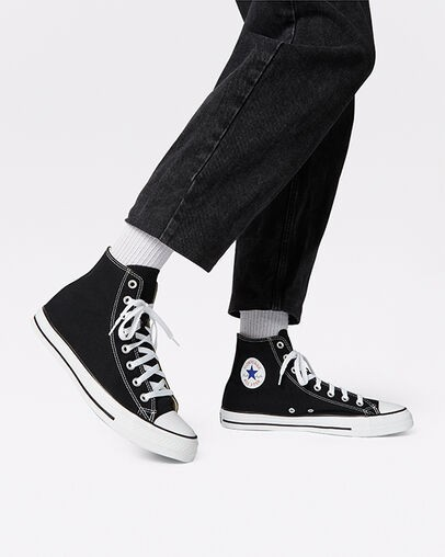 chuck taylors black and white