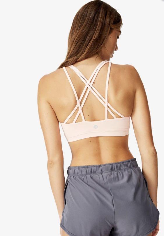 Cotton on Body Strap pink sport bra