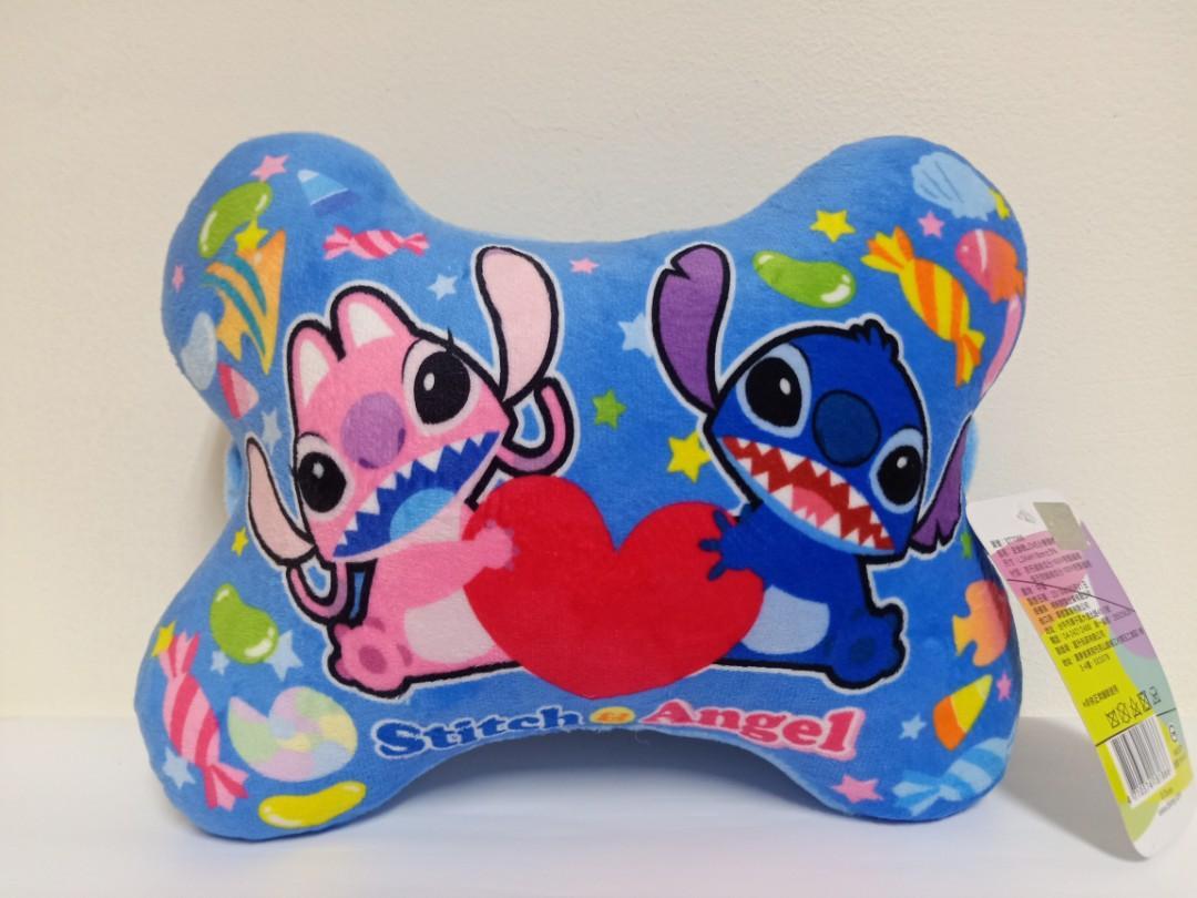 【正版迪士尼Disney】史迪奇頸枕 車用枕 骨頭枕