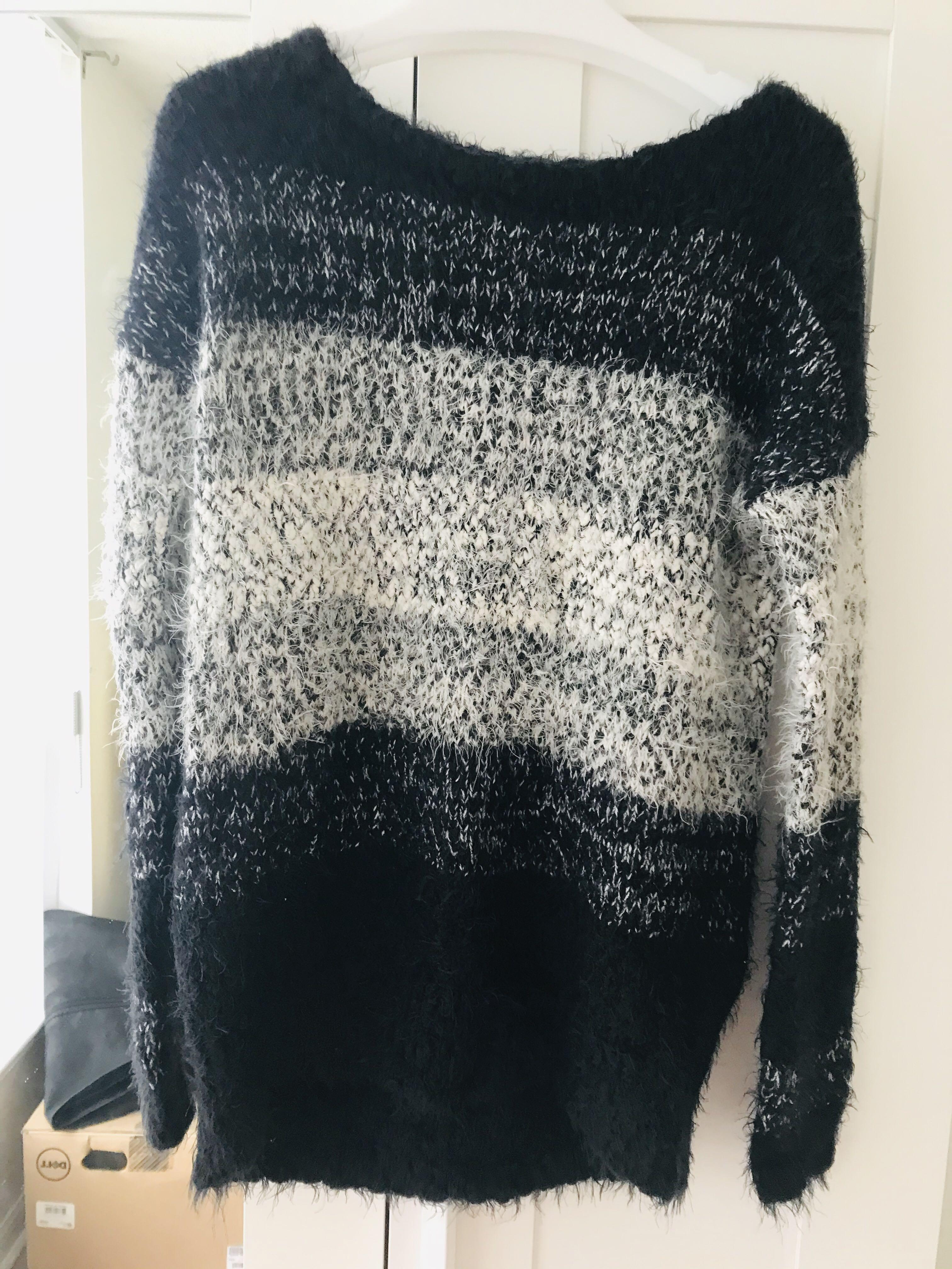 Express multicolor mohair sweater size S