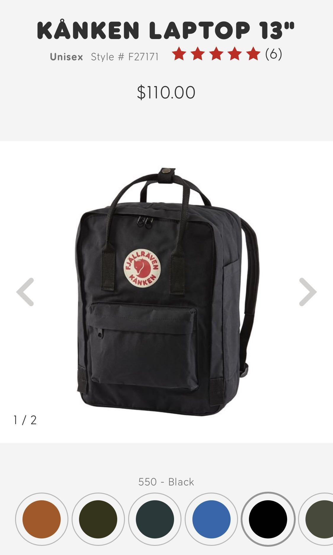 Fjallraven backpack 13inch with cover case