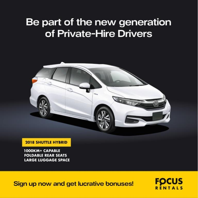 Honda Shuttle Hybrid for Grab / Gojek PHV