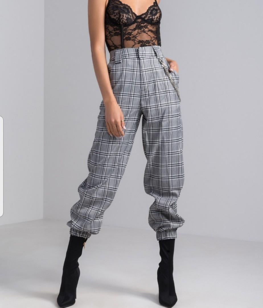 I Am Gia Plaid Cobain Pants (S)