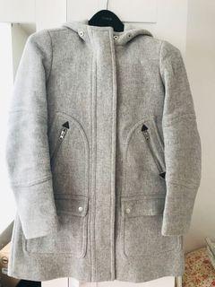 J Crew Italian Wool Coat size 00