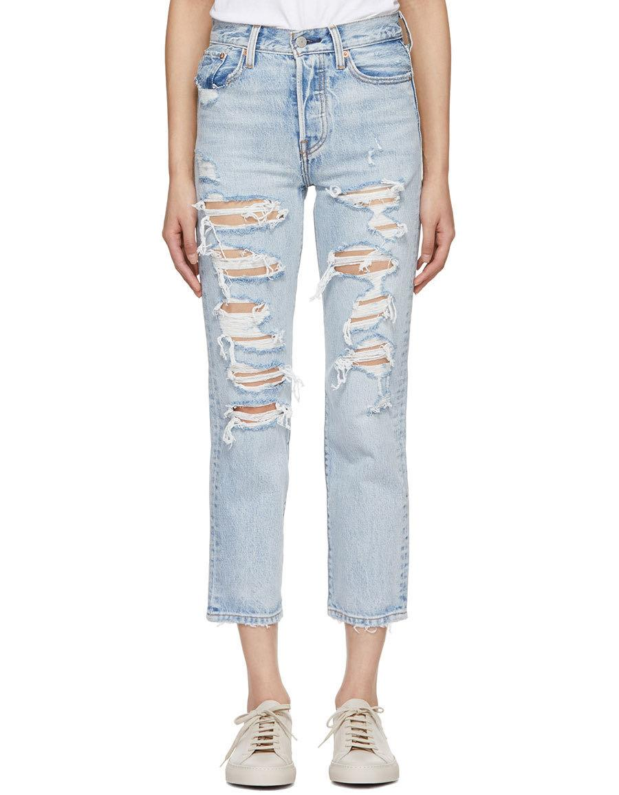Levi's Distressed Wedgie Jeans