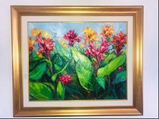 Lukisan Bunga Kana