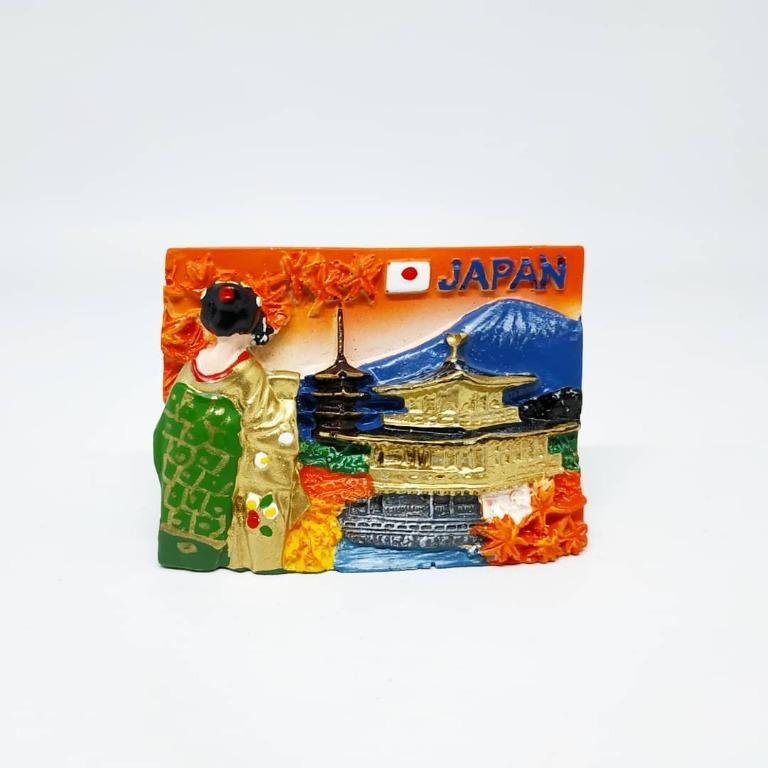 Magnet Kulkas Resin Jepang Kotak