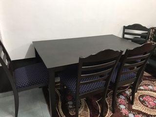 Meja Makan 6 Seater Free Rak Kasut